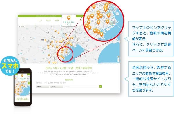 医療・介護・福祉MAP サイト